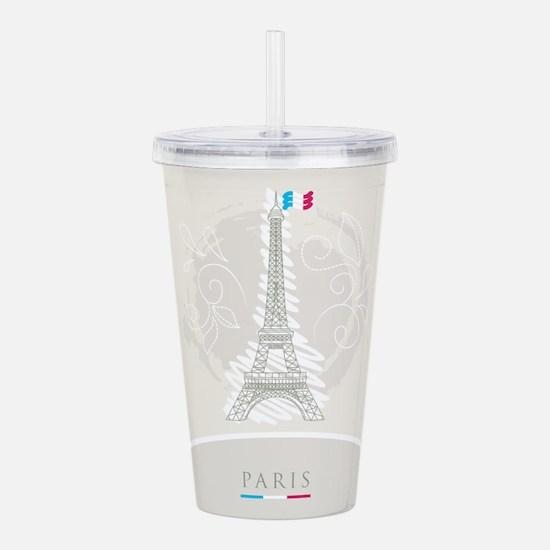 Beautiful Paris Acrylic Double-wall Tumbler