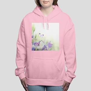 Flowers with Butterflies Women's Hooded Sweatshirt