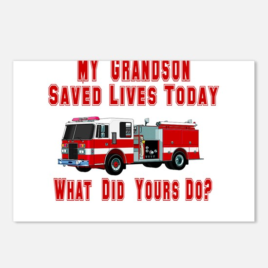 Grandson-What Did Yours Do? Postcards (Package of
