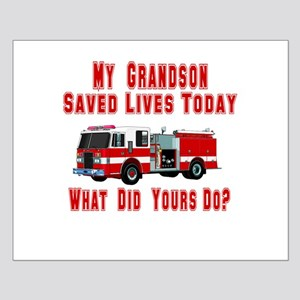 Grandson-What Did Yours Do? Small Poster