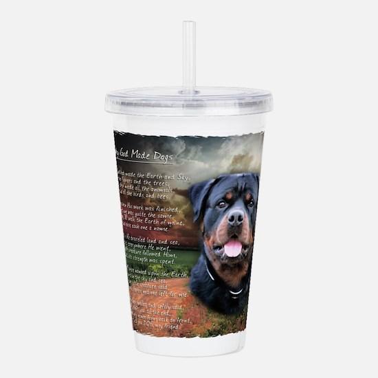 godmadedogs.png Acrylic Double-wall Tumbler