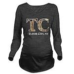 TUDORCityFINBlack Long Sleeve Maternity T-Shirt