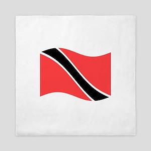 Waving Trinidad-Tobago Flag Queen Duvet