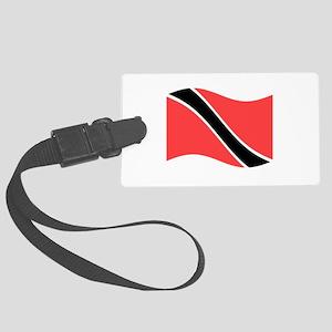 Waving Trinidad-Tobago Flag Luggage Tag