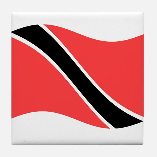 Waving Trinidad-Tobago Flag Tile Coaster
