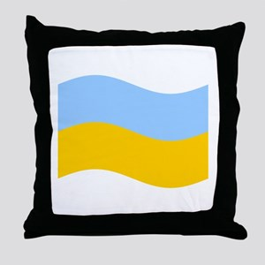 Waving Ukraine Flag Throw Pillow