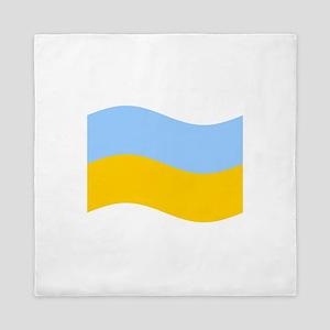 Waving Ukraine Flag Queen Duvet