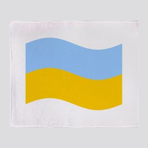 Waving Ukraine Flag Throw Blanket
