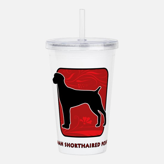 20-redsilhouette.png Acrylic Double-wall Tumbler