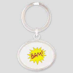 BAM! Oval Keychain