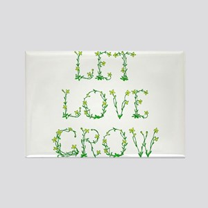 Let Love Grow Rectangle Magnet