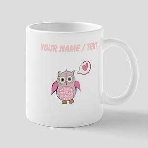 Custom Cartoon Pink Love Owl Mugs