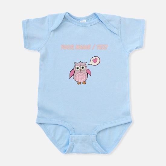 Custom Cartoon Pink Love Owl Body Suit