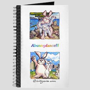 Cute Cartoon Rabbit 8x5 Journal