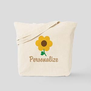 Personalizable Flower Tote Bag