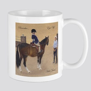Eyes Up, Heels Down Horse Mugs