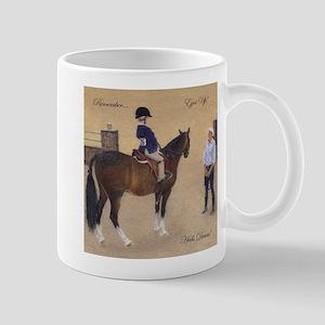 Eyes Up, Heels Down Horse Mugs