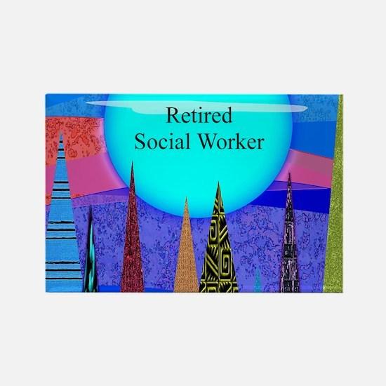 Retired Social Worker 1 Magnets