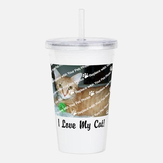 CUSTOMIZE Add Photo Love Cat Acrylic Double-wall T