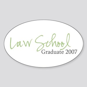 Law School Graduate 2007 (Green Script) Sticker (O