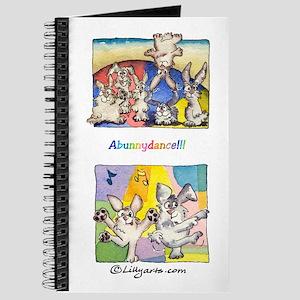 Cute Cartoon Rabbit Dance 8x5 Journal