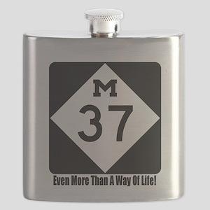 M-37 Sign w/slogan Flask