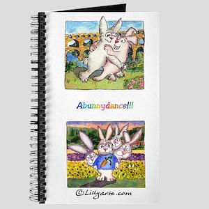 "Cute Cartoon Rabbit Provence Travel 8x5"" Journal"