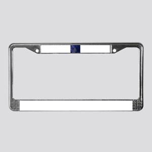 psychedlic tiger License Plate Frame