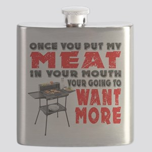 Once you put my Meat in Your Mouth Joke BRS Flask