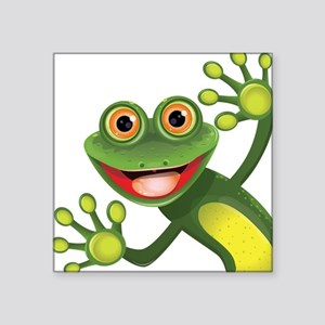 Happy Green Frog Sticker