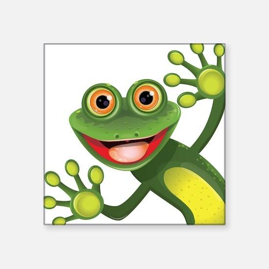 Happy Green Frog Sticker