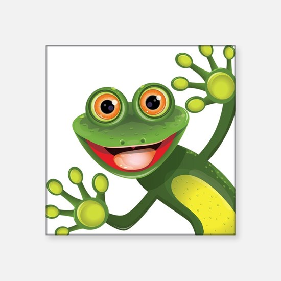 Cartoon gifts merchandise cartoon gift ideas apparel cafepress happy green frog sticker negle Image collections