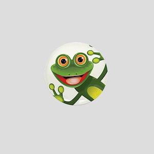 Happy Green Frog Mini Button