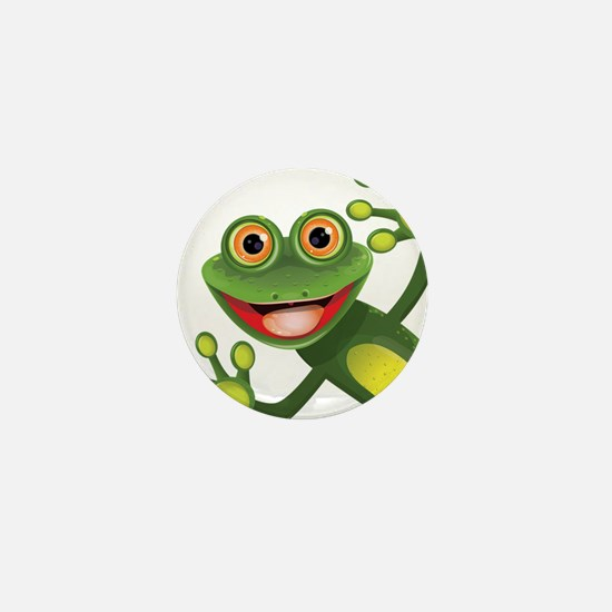 Happy Green Frog Mini Button