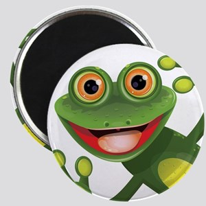 Happy Green Frog Magnets