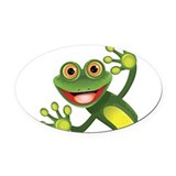 Frog Oval Car Magnets