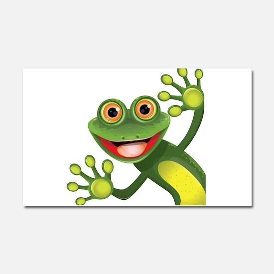 Happy Green Frog Car Magnet 20 x 12