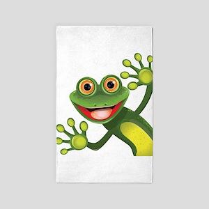 Happy Green Frog 3'x5' Area Rug