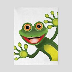 Happy Green Frog Twin Duvet