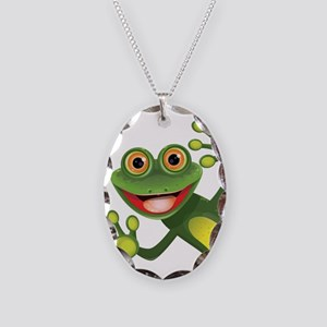 Happy Green Frog Necklace