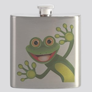 Happy Green Frog Flask