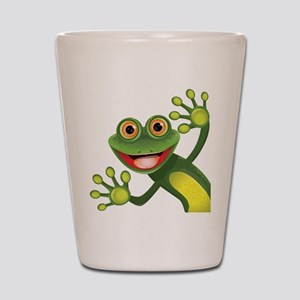 Happy Green Frog Shot Glass