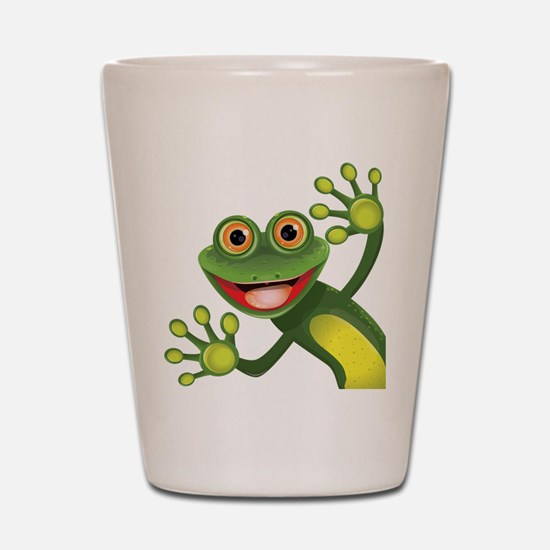 Happy Green Frog Shot Glass