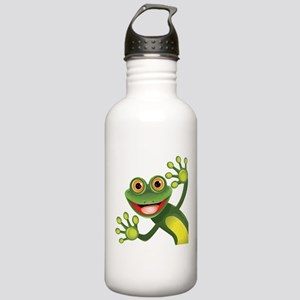 Happy Green Frog Water Bottle