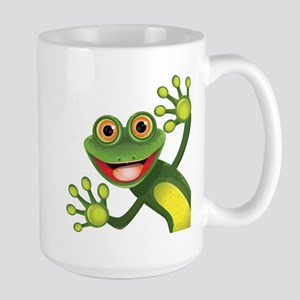 Happy Green Frog Mugs
