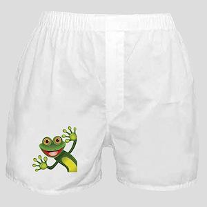 Happy Green Frog Boxer Shorts