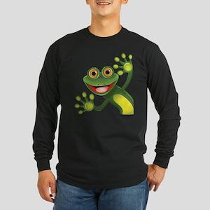 Happy Green Frog Long Sleeve T-Shirt