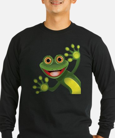 Happy Green Frog Long Sleeve T-Shirt