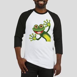 Happy Green Frog Baseball Jersey