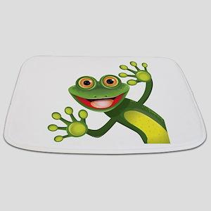 Happy Green Frog Bathmat